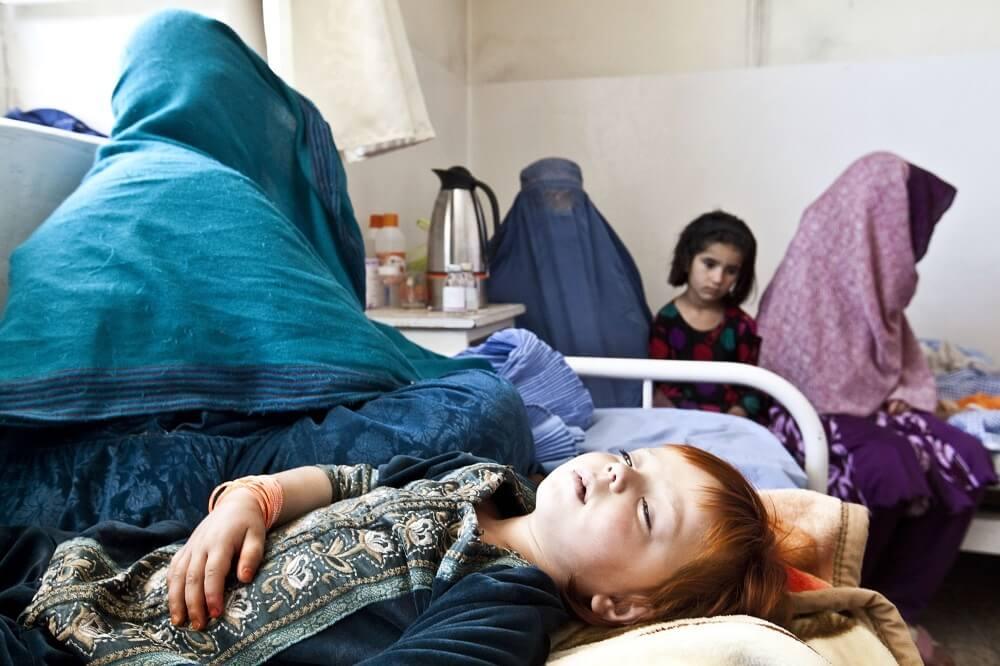 Children in Puli Alam hospital, Afghanistan 2011