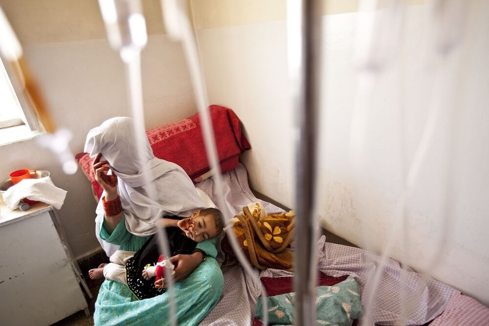 Children in Puli Alam hospital, Afghanistan 2011