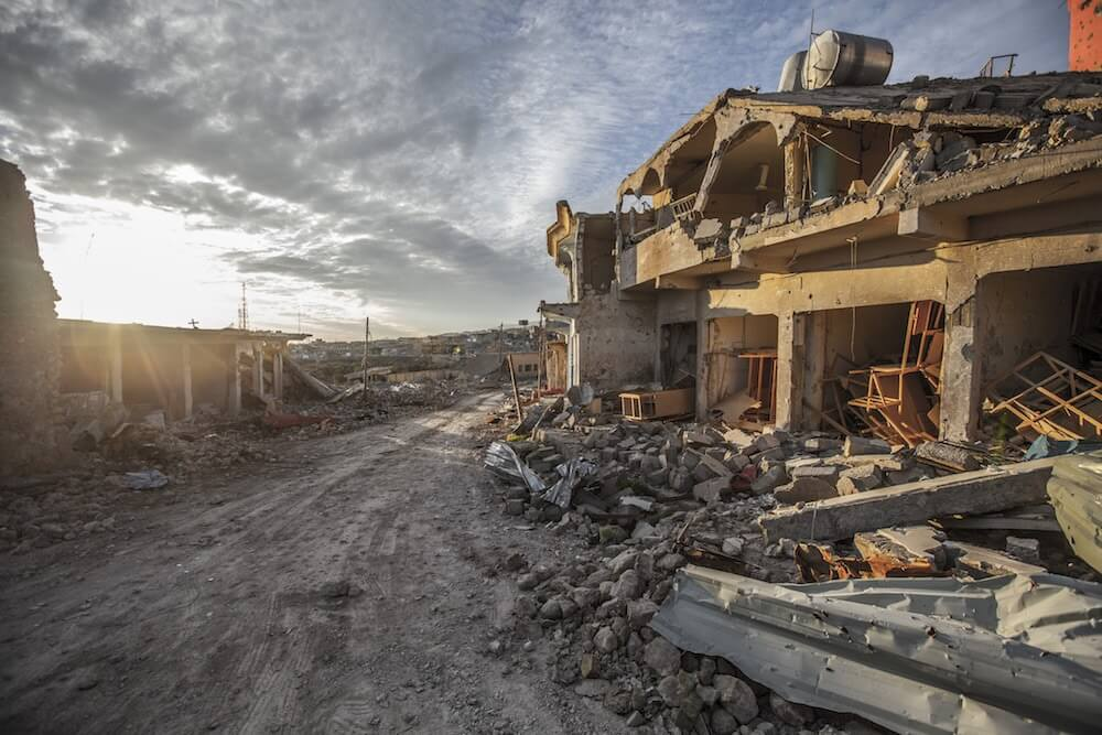 Destructed Sinjar, Iraq 2016