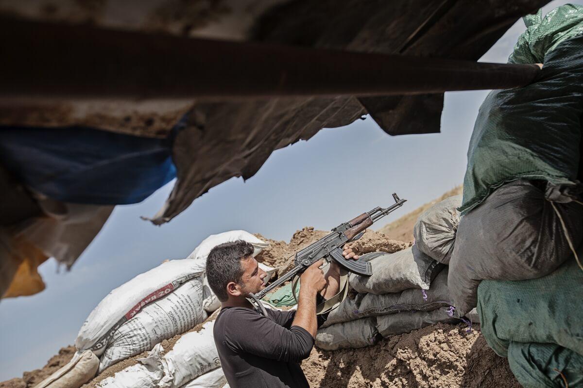 Frontline in Bahdinan, Iraq 2015