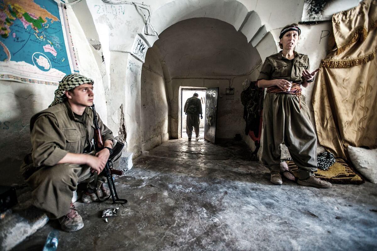 Frontline in Sinjar, Iraq 2015