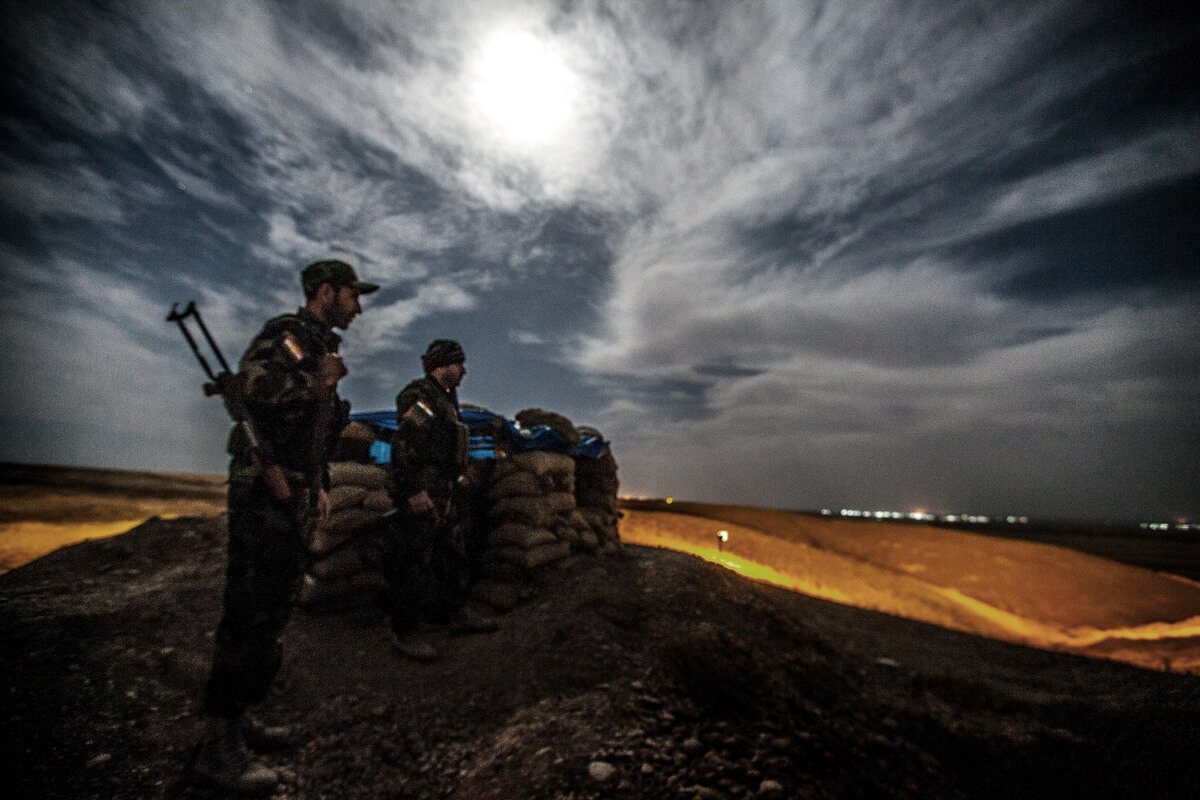 Frontline near the city of Kirkuk, Iraq 2015