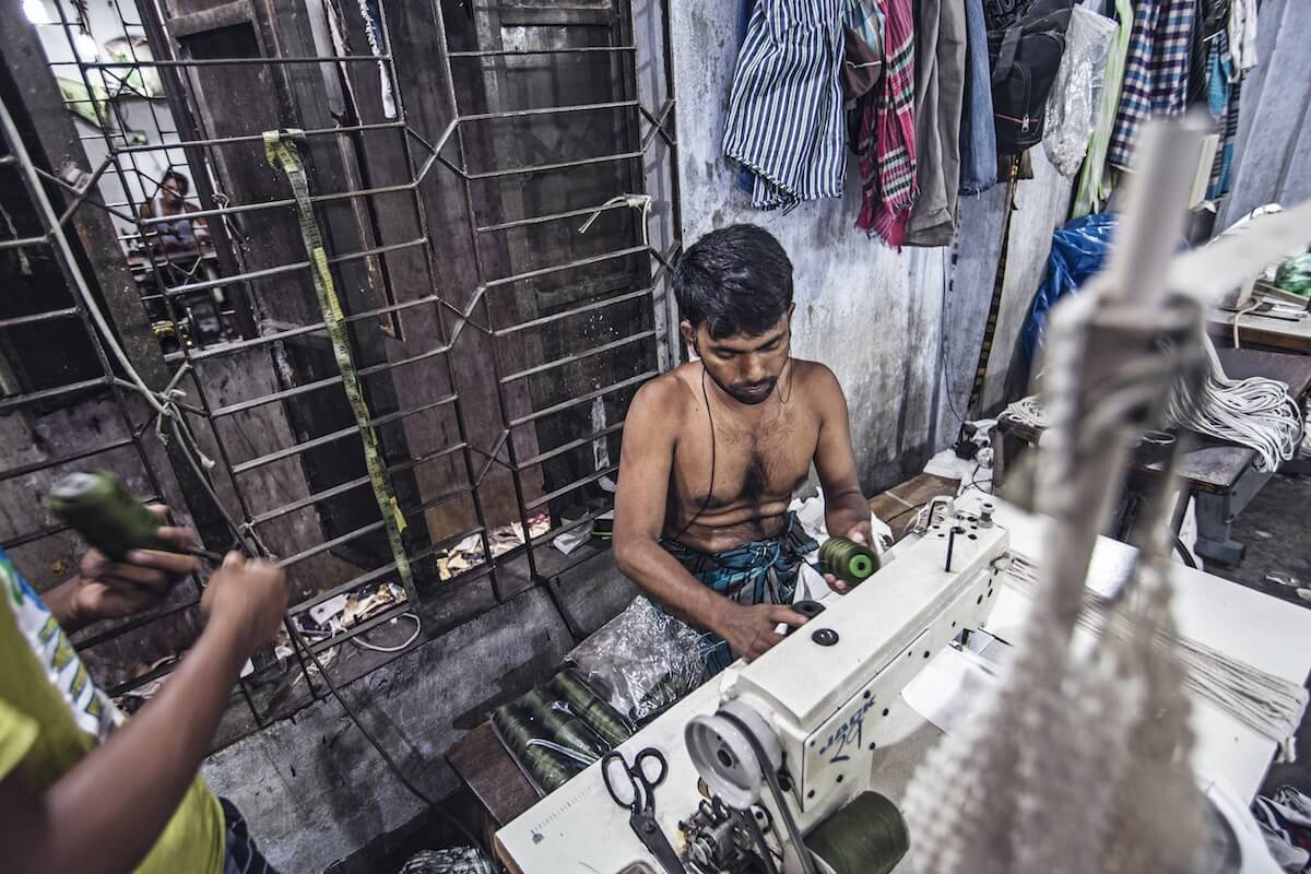 Garment factories in Dhaka, Bangladesh 2015