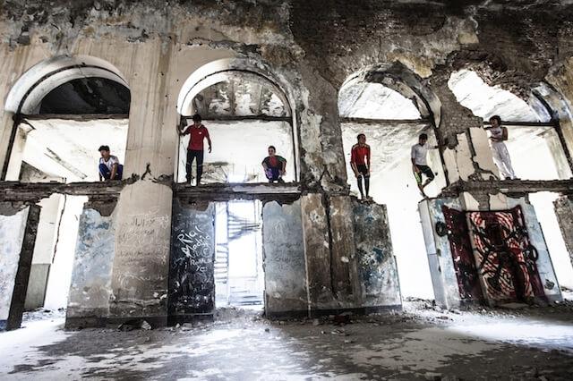Kabul Boys, parcour in Kabul, Afghanistan 2014