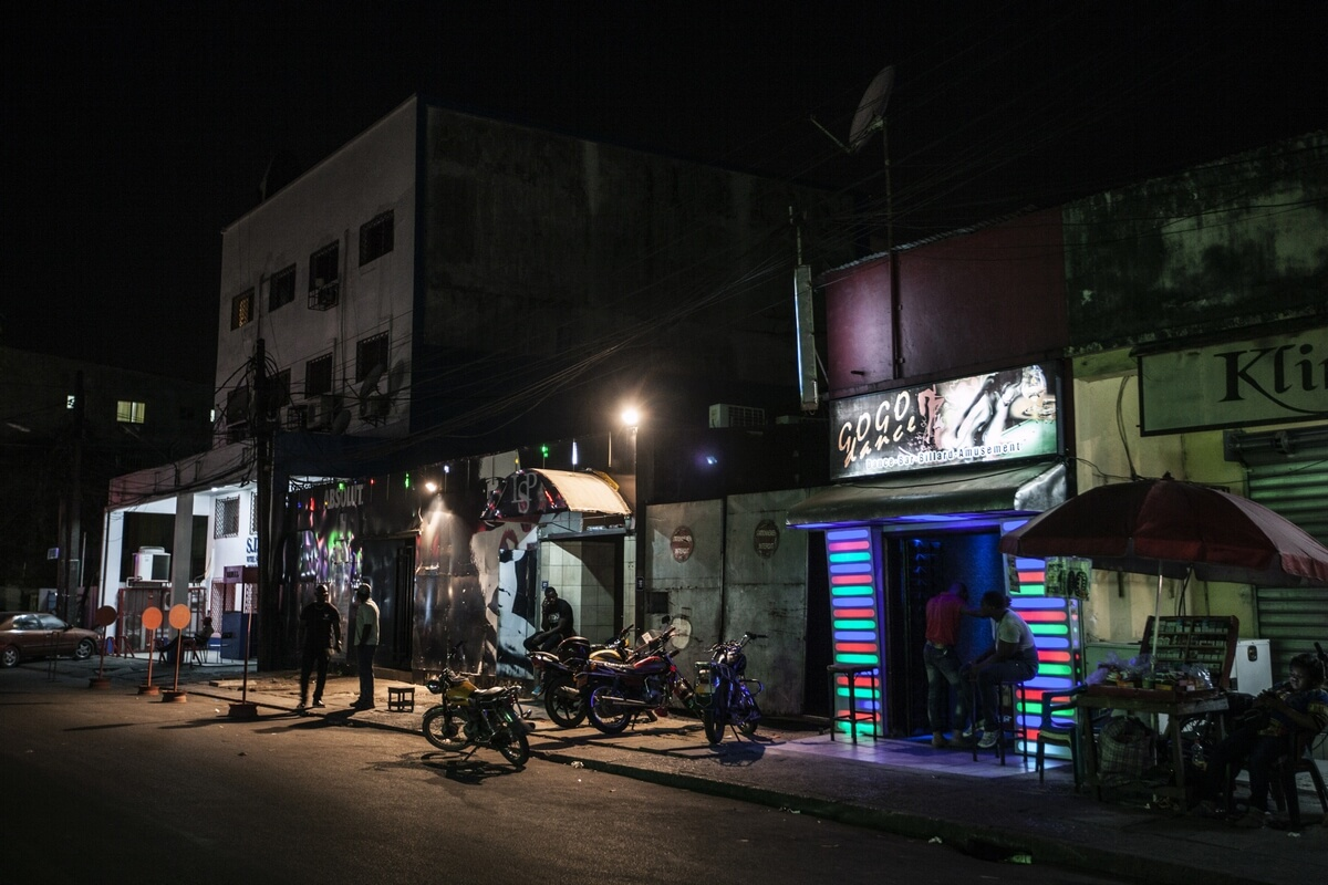 Night life in Douala, Cameroon 2016