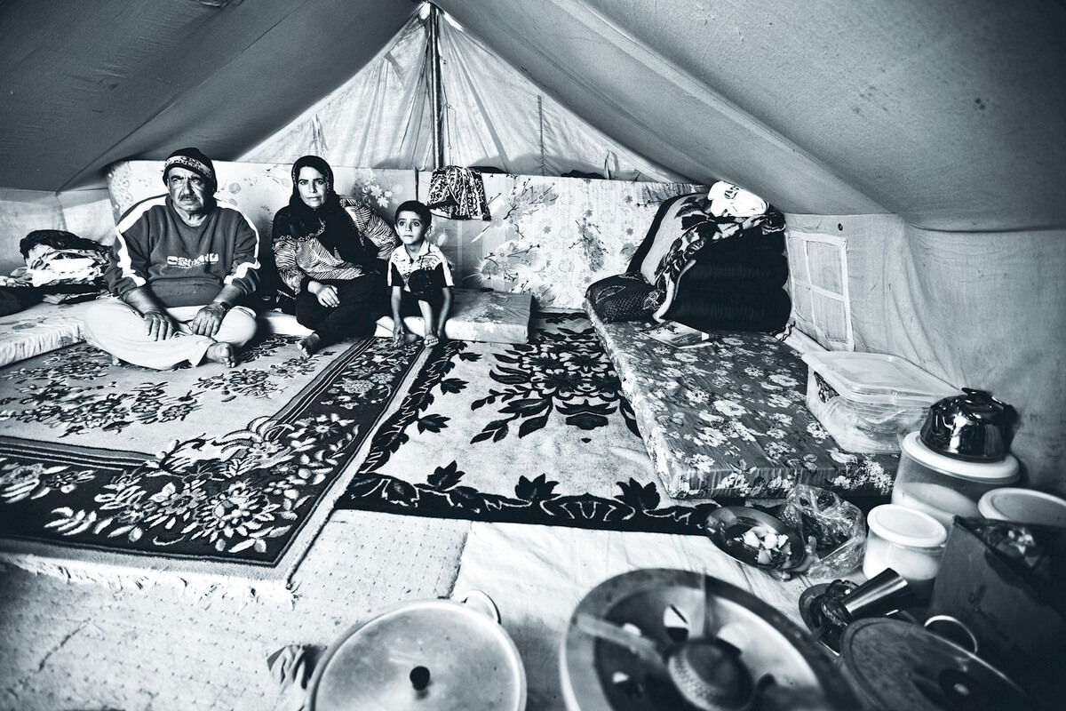 Syrian refugee camp near Dohuk, Iraq 2012
